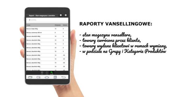 Raport stanu magazynowego Vansellera